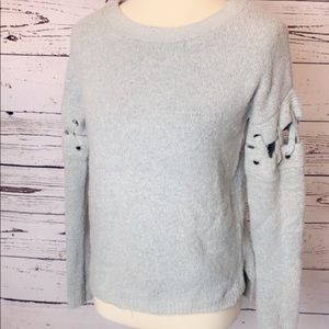Charlotte Russe Grey Fuzzy pull-over Sweater